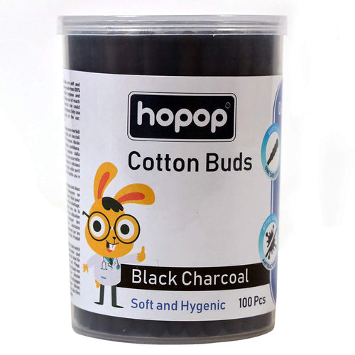 Charcoal Cotton Buds. 100Pcs - hopopindia
