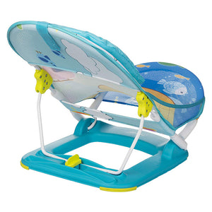 Anti Skid Compact Baby Bather (Blue) - hopopindia