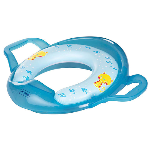 Cushion Potty Seat With Easy Grip Handles (Blue) - hopopindia