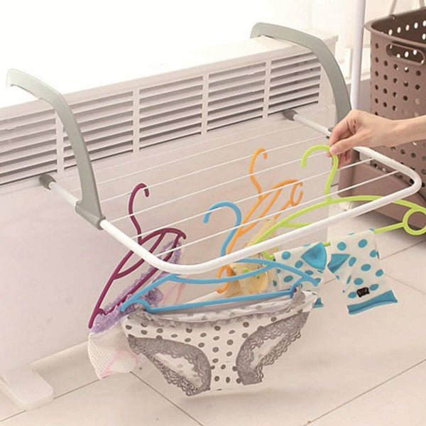 DIVCHI 5 Bar Radiator Folding Airer Radiator Towel Holder Clothes Dryer Drying Rack Rail