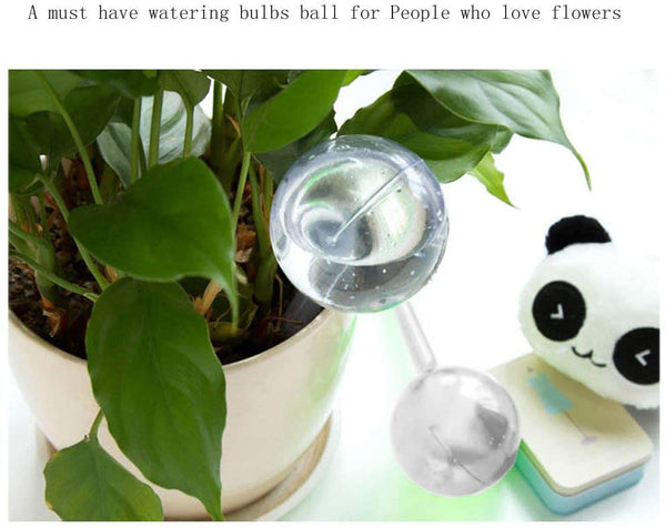 DIVCHI Self Watering Globes, Green Life Pack of 4 Aqua Globes Small Plant Flower Automatic Self Watering PVC Bulbs Ball Garden Waterer Device Set - Divchi