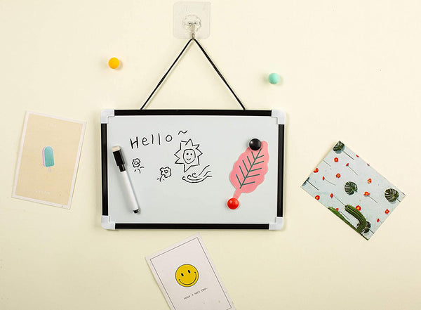DIVCHI A4 Dry Wipe Magnetic Whiteboard Mini Office Notice Memo White Board Pen and Eraser