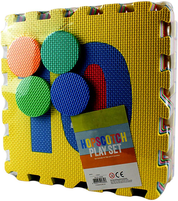 DIVCHI Hopscotch Play Set - Soft Foam Interlocking Play Mat Puzzle Jigsaw with Number 0 to 9 Pop-Out, SGS, TUV, Reach Safety Tested, Non-Toxic, Odorless - Divchi