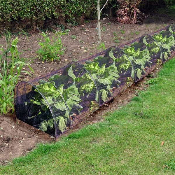 DIVCHI Net Grow Tunnel Plant Cover Black - Lasting Protection Against Birds, Deer and Other Pests - Divchi