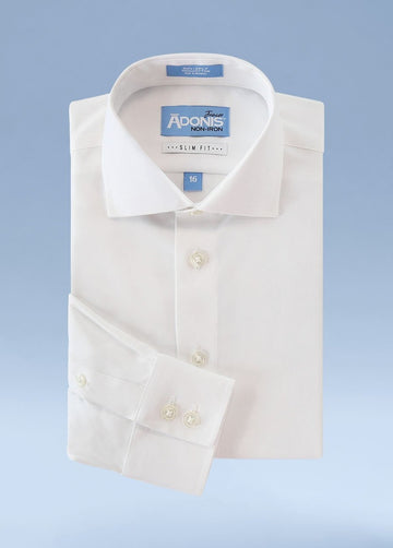 Boys Slim Fit Non Iron 100% Cotton Supima Twill  Dress Shirt