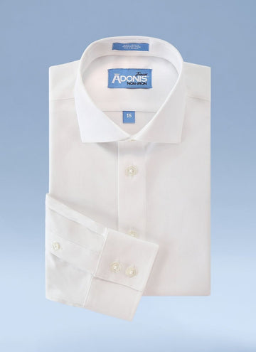 Boys Classic Fit Non Iron 100% Cotton Supima Twill Dress Shirt