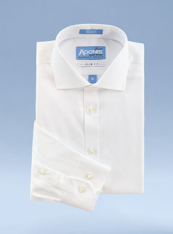Boys Slim Fit Non Iron 100% Cotton Pinpoint Dress Shirts