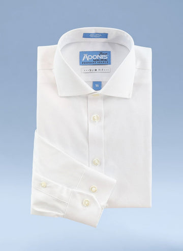 Little Boys Slim Fit Non Iron 100% Cotton Pinpoint Dress Shirt