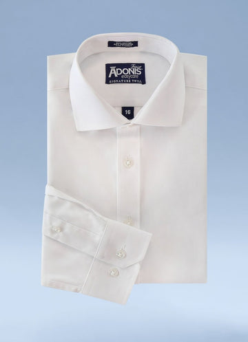 Little Boys Classic Fit Easy Care Signature Twill Dress Shirt