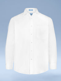 "Mens 100% Cotton Non Iron White-on-White ""Dashing"" Button Cuff Dress Shirt"