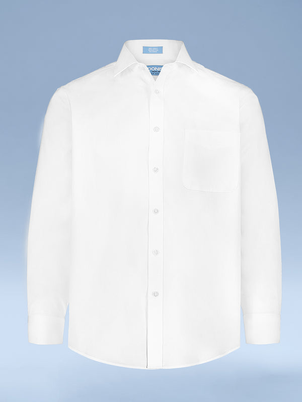 Mens Classic Fit Non Iron 100% Cotton Pinpoint Dress Shirt with Point Collar