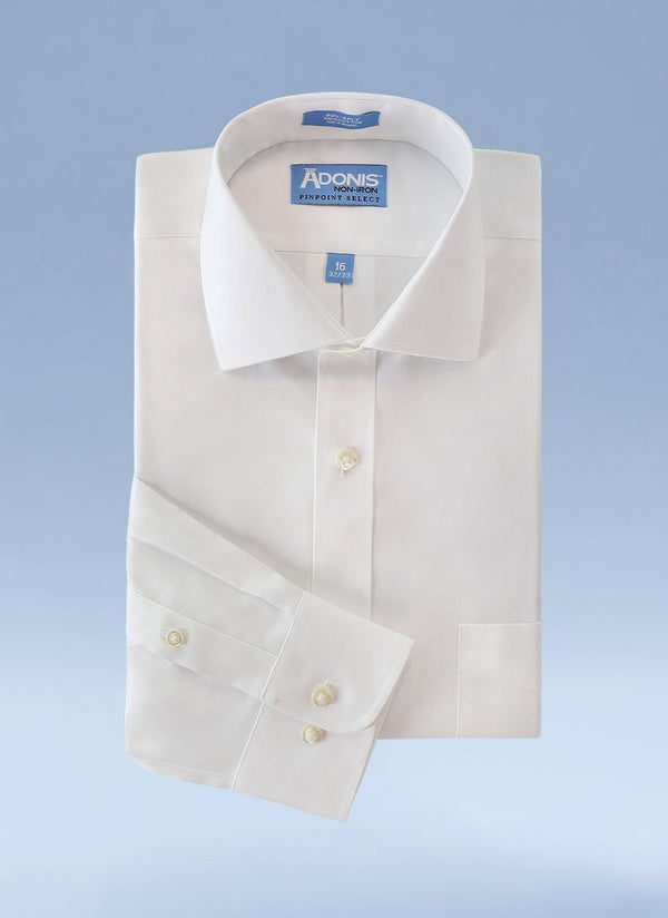 Mens Classic Fit Tall Non Iron 100% Cotton Pinpoint Dress Shirt