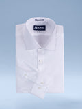"Mens Cotton Blend Easy Care White-on-White ""Chic"" Button Cuff Slim Fit Dress Shirt"