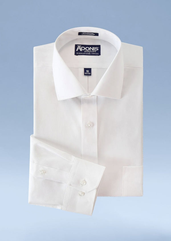 Mens Classic Fit Easy Care Signature Twill Dress Shirt