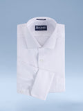 "Mens Cotton Blend Easy Care White-on-White ""Ritzy"" Dress Shirt"