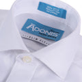 Little Boys 100% Cotton Non Iron White-on-White 'Grand Royal' Button Cuff Slim Fit Dress Shirt