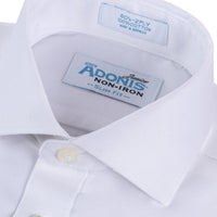 Boys 100% Cotton Non Iron White-on-White 'Fresh' Slim Fit Dress Shirt