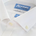 Mens Slim Fit Non Iron 100% Cotton Pinpoint Dress Shirt with Button Down Collar