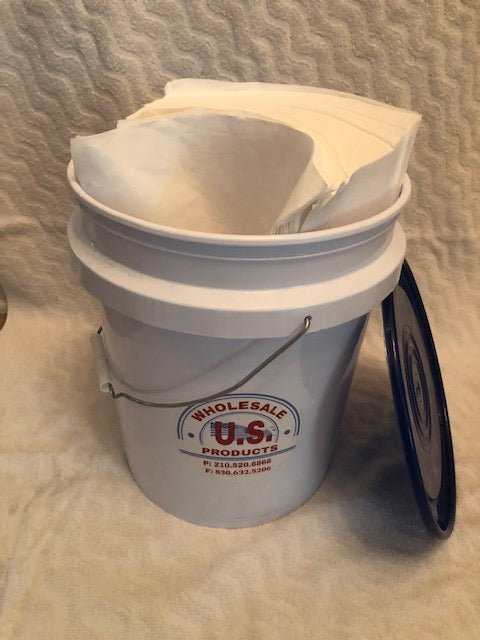 ALL PURPOSE WIPER SAMPLE BUCKET (APPROX 400)