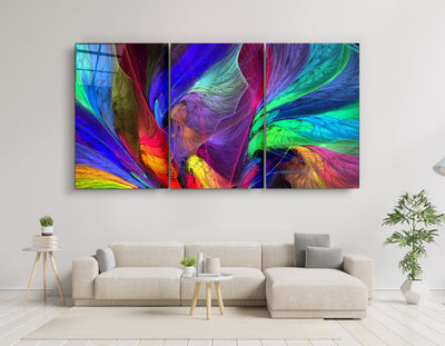 "・""Colorized - Trio""・Glass Wall Art RCGP Artdesigna"