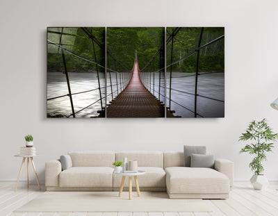 "・""Forest Bridge - Trio""・Glass Wall Art RCGP Artdesigna"