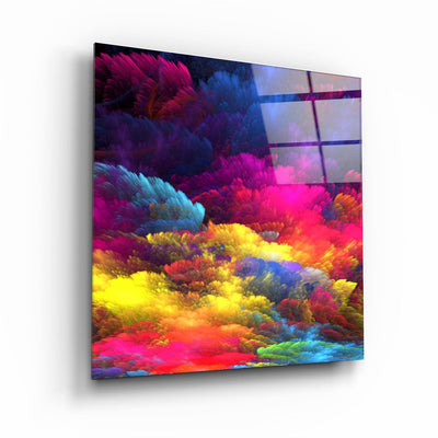 "・""Color Puff""・Glass Wall Art ArtDesigna Glass Printing Wall Art"
