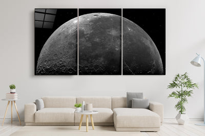 "・""Black Moon - Trio""・Glass Wall Art RCGP Artdesigna"