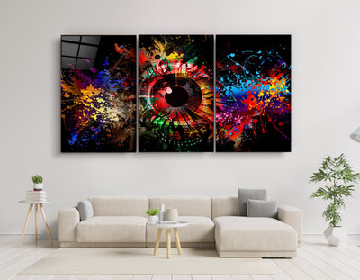 "・""Eye of The Future - Trio""・Glass Wall Art RCGP Artdesigna"