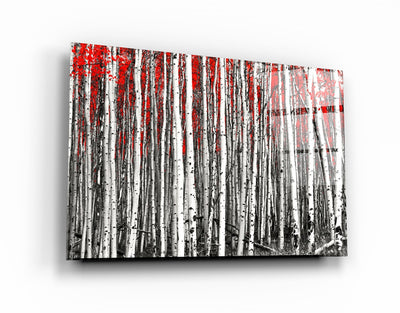 "・""Red Forest""・Glass Wall Art RCGP Artdesigna"