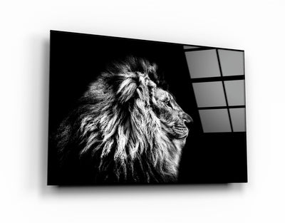 "・""Leo The King""・Glass Wall Art RCGP Artdesigna"