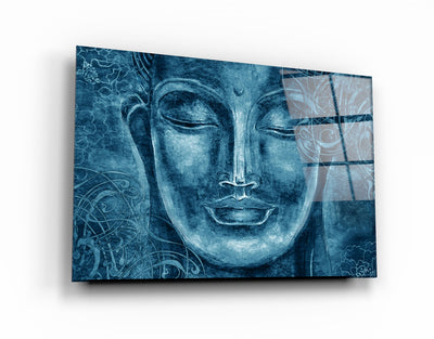 "・""Buddha Blue""・Glass Wall Art RCGP Artdesigna"