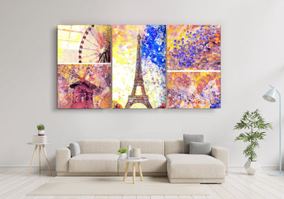 "・""Paris - Trio""・Glass Wall Art RCGP Artdesigna"