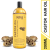 Rey Naturals Premium Cold Pressed Castor Oil - Controls Hair Fall - for Healthy Hair and Skin - 200 ML