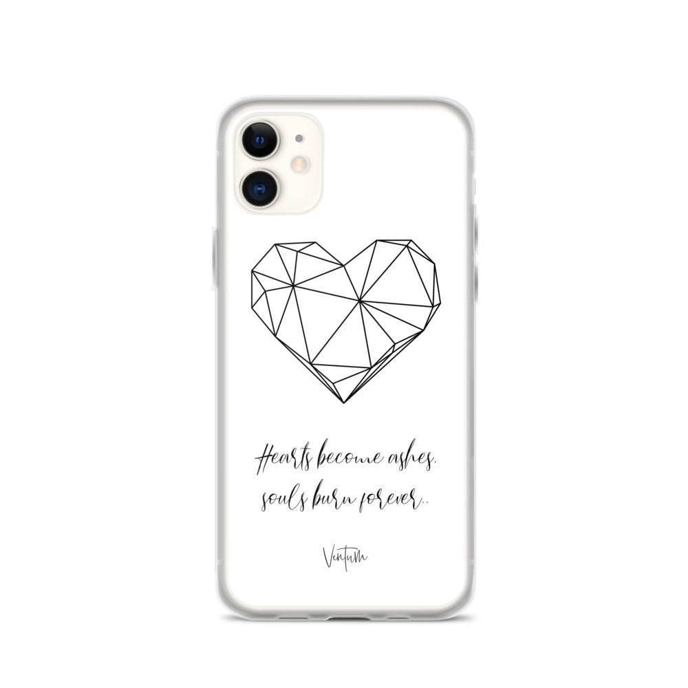 Hearts - White iPhone