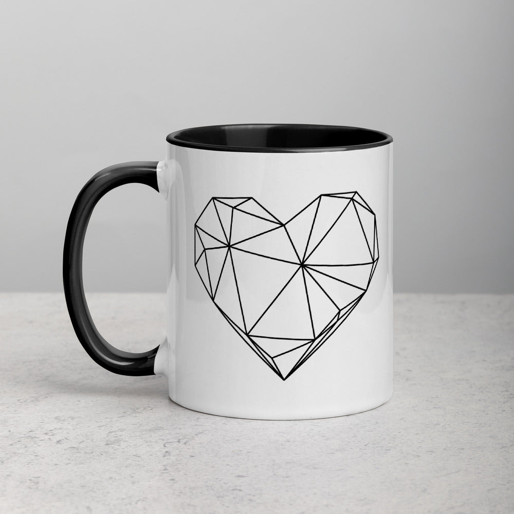 Hearts - Mug w. Drawing
