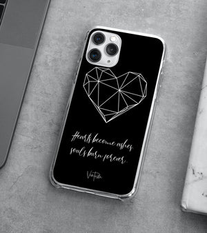 Hearts - Black iPhone