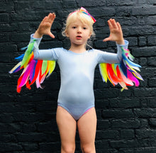 Load image into Gallery viewer, Sky Blue Leotard  / Rainbow Wings