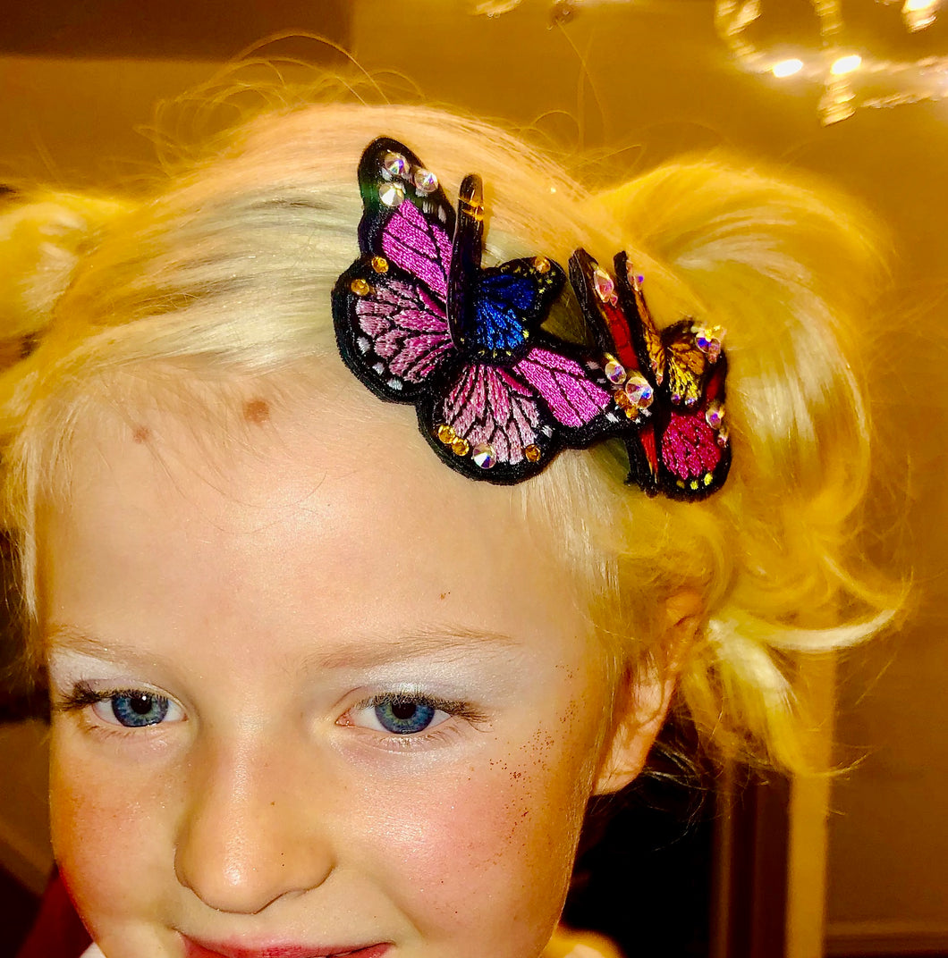 Beautiful Butterfly Clips x 2