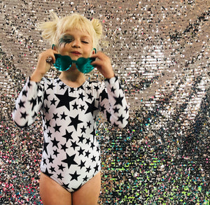 Black and White Star Leotard