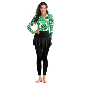Palm Leaf Set With Femme Swim Pants