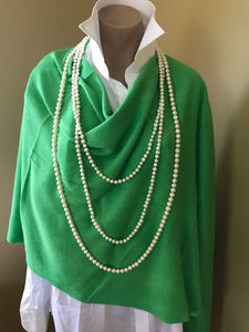 Parrot Green Acrylic Poncho