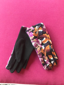 Pink/Orange Artistic Gloves
