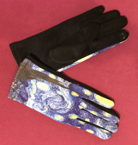 Blue Artistic Gloves