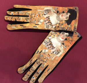 Lady Printed Artistic Gloves