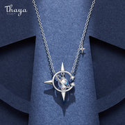 Thaya Original Design Brand Magical Series Necklace 45cm Plated 18k Gold Crystal Pendant Young Ladies  Women Fine Jewelry Gift