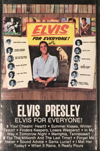 Elvis Presley - Elvis For Everyone Cassette VG