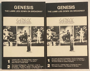 Genesis - The Lamb Lies On Broadway 2x Cassette VG