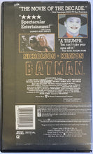 Load image into Gallery viewer, Batman 1989 Tim Burton Blockbuster Rental Copy Clamshell VHS