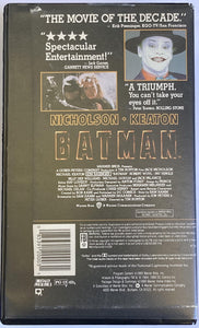 Batman 1989 Tim Burton Blockbuster Rental Copy Clamshell VHS