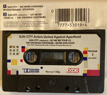 Load image into Gallery viewer, Sun City - Artists United Against Apartheid Compilation Cassette VG+